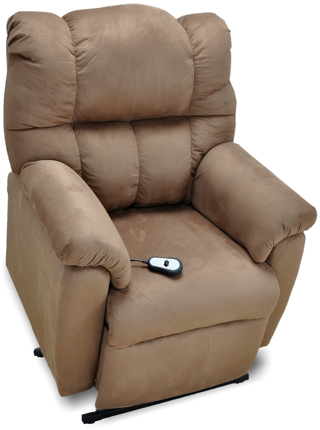 Recliner Lift Chairs Bonded Leather 3 Position Power Lift Recliner Brown