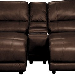 The Brick Cindy Crawford Reclining Sofa Small Comfy Beds Living Room Furniture - Marco Genuine Leather 3-piece ...