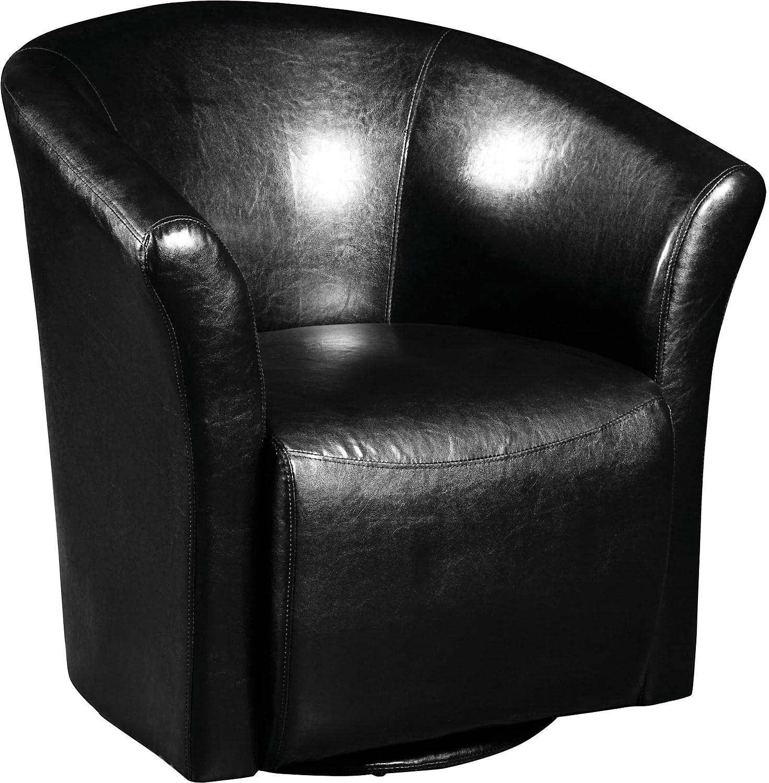 Black Swivel Accent Chair  The Brick