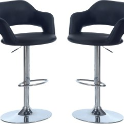 Chair Bar Stool Chairs And Ottoman Hydraulic Package  Black The Brick