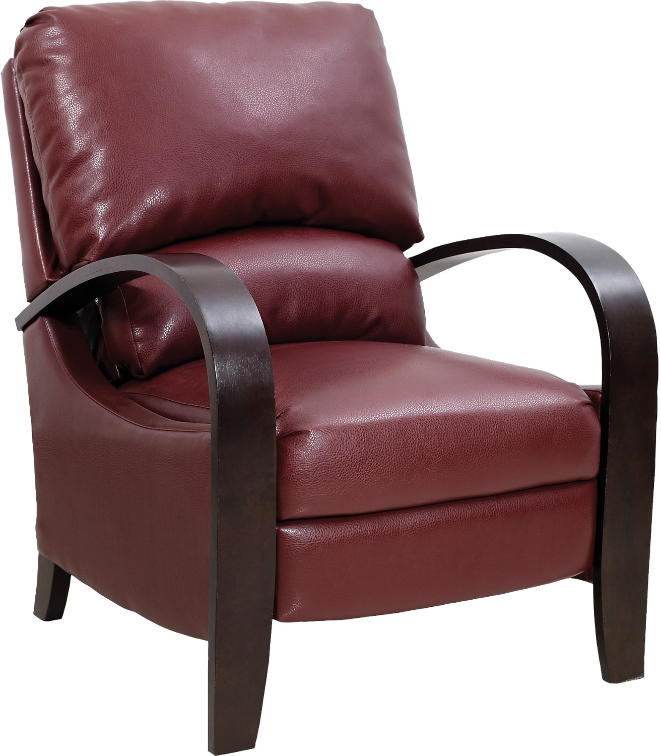 reclining accent chair mayfair dining chairs set of 2 aaron fabric  lava the brick