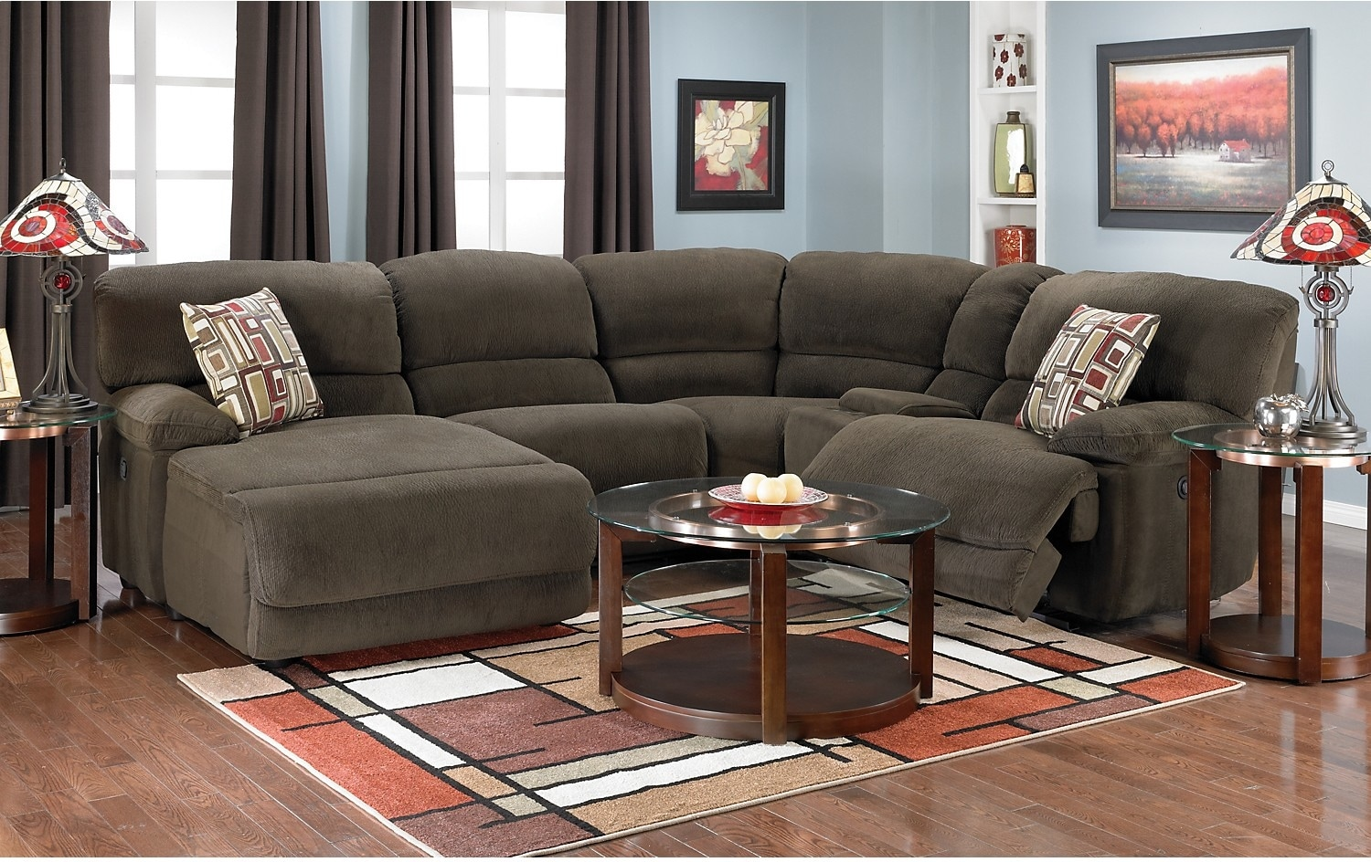 montreal sectional sofa in slate latest fabrics india the brick living room sets