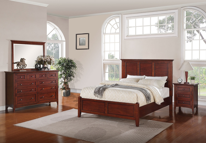 Forest Lake 5Piece Queen Bedroom Set  Mahogany  Leons