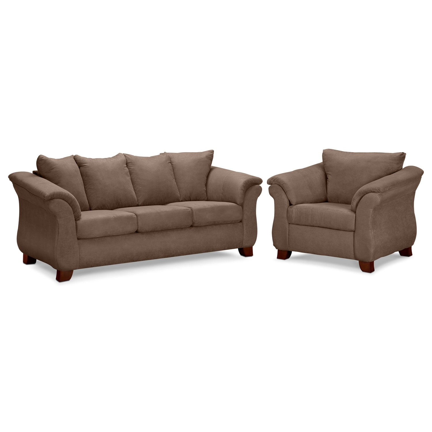 Adrian Sofa And Chair Set  Taupe  Value City Furniture