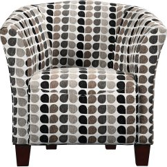 Tub Accent Chair Outdoor Bistro Pads Style Fabric Steel The Brick