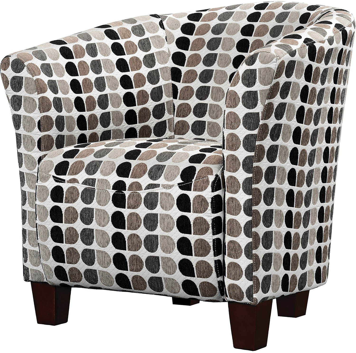 tub accent chair cape cod chairs style fabric steel the brick