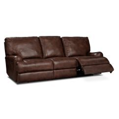 Best Thing To Clean Cream Leather Sofa Armrest Table Uk Kingsway Power Reclining Value City Furniture