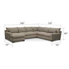Cleaning Down Filled Sofa Cushions Moheda Corner Bed Ventura 4-piece Left-facing Sectional - Buff | American ...