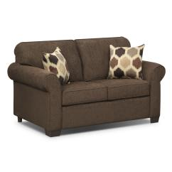 Loveseat Twin Sleeper Sofa Damask Covers Uk Downey Chocolate Innerspring Furniture
