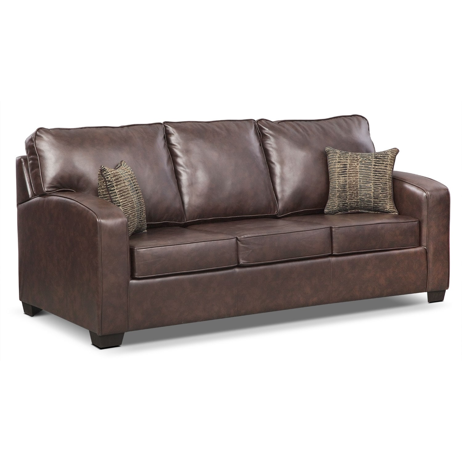 leather sectional sleeper sofa queen corner bed red brookline memory foam