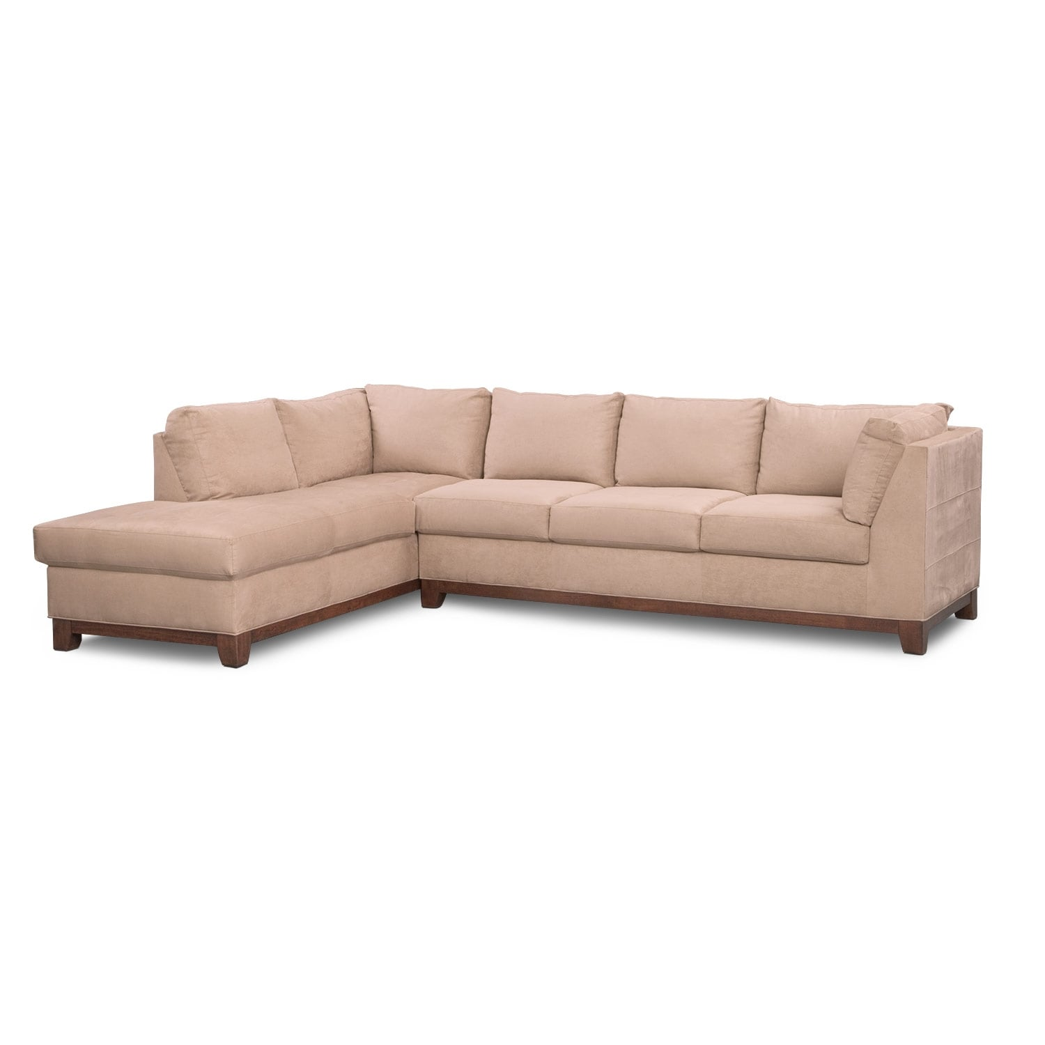 2 piece sectional sofa chaise mart lansing michigan soho with left facing