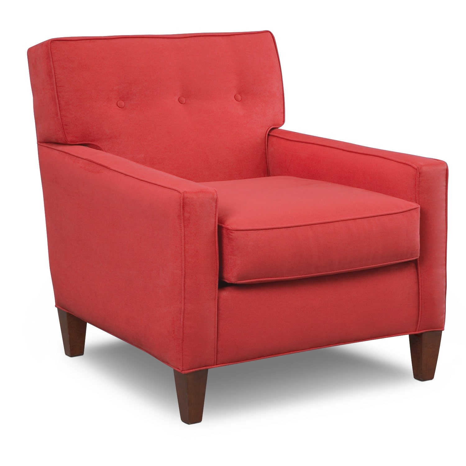 Hudson Red Upholstery Accent Chair  Furniturecom