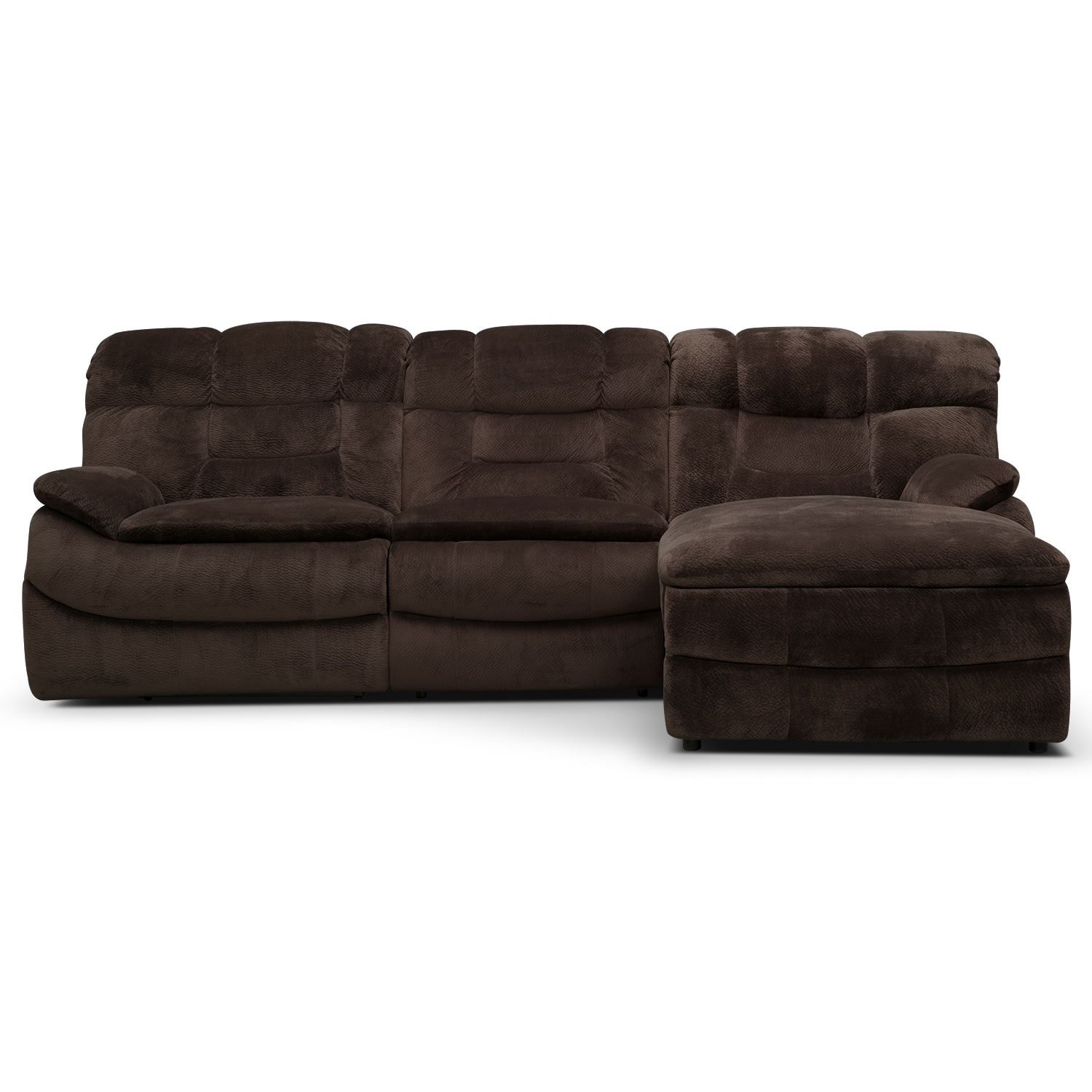 3 pc sectional sofa with recliners designs for rooms big softie piece power reclining right