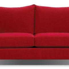 Red Microfiber Reclining Sofa Rocking How To Clean Suede Couches A