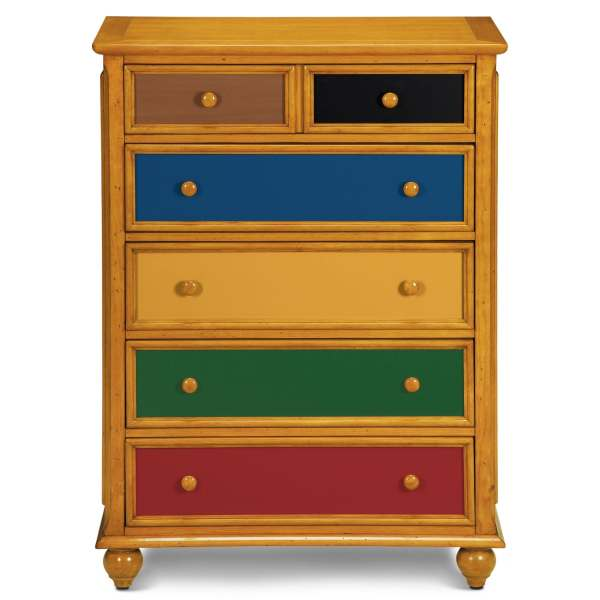 Colorworks Chest - Honey Pine City Furniture