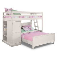 Colorworks White II Loft Bed with Full Bed | Value City ...