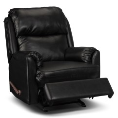 Faux Leather Recliner Chair Round Bungee Cord Drogba Black The Brick