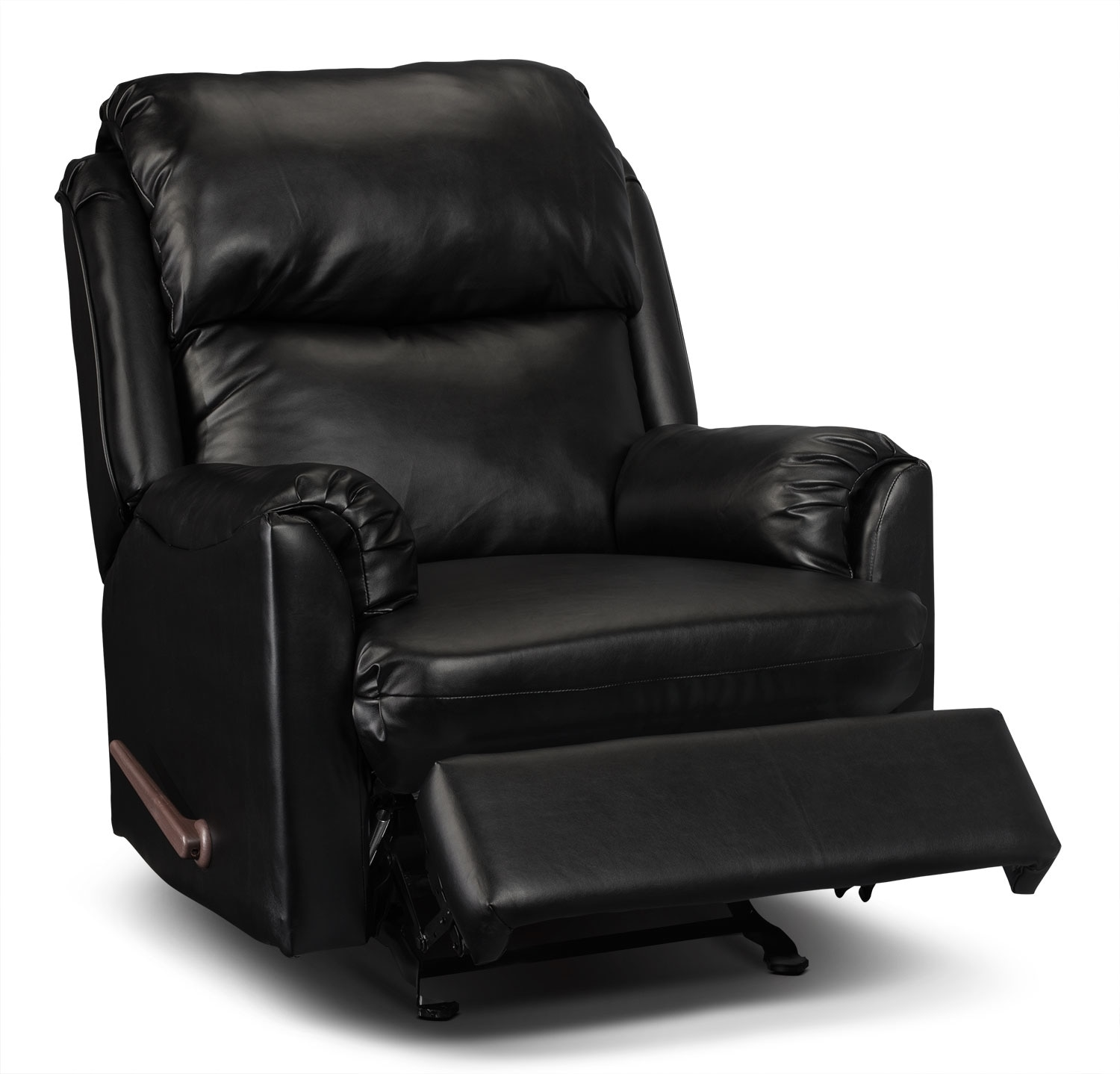 Faux Leather Chair Drogba Faux Leather Recliner Black The Brick
