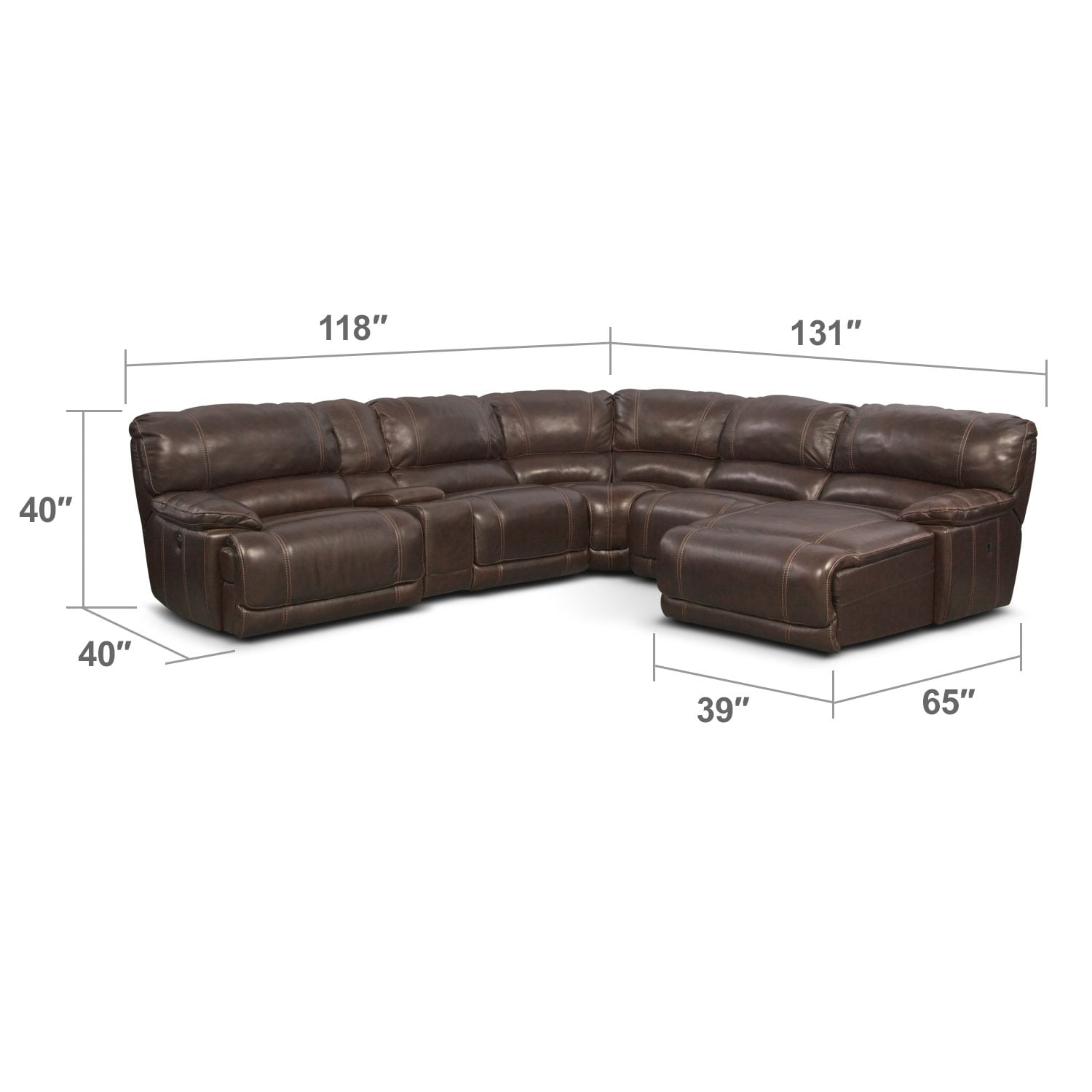 caruso leather 5 piece power motion sectional sofa best home furnishings reviews st malo 6 reclining with right