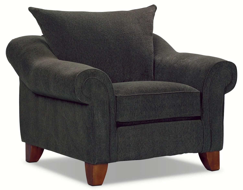 dark gray chair baby feeding chairs reese chenille sofa grey the brick