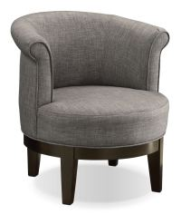 Lino Fabric Swivel Accent Chair Platinum | United ...