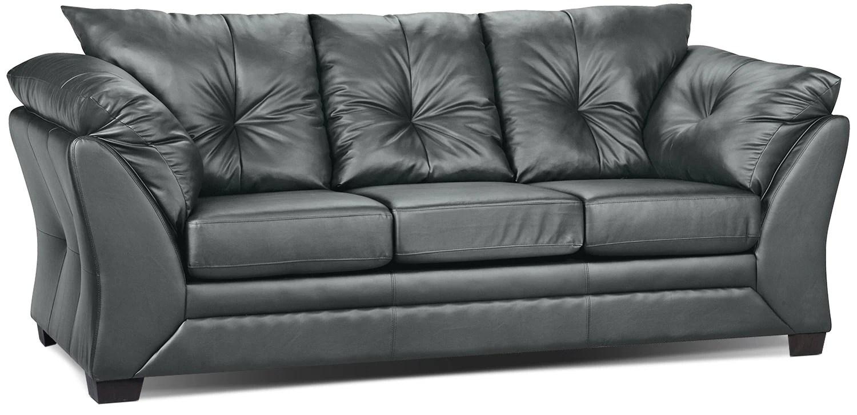 Max Faux Leather Sofa  Grey  The Brick