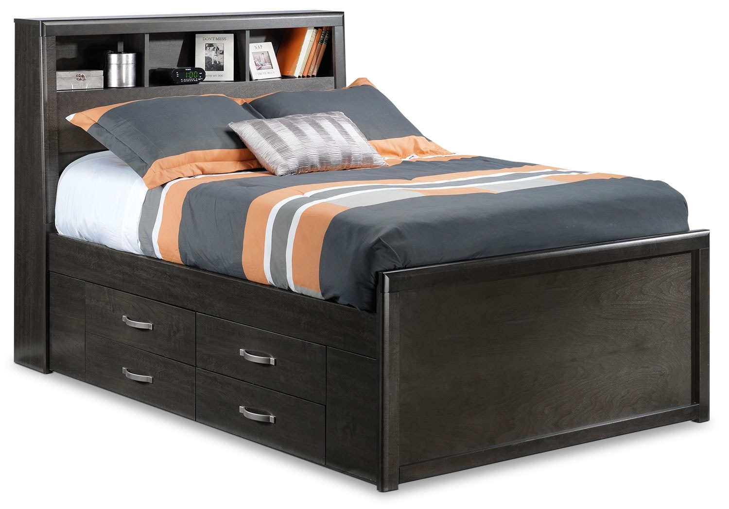 Dessy Junior Full Storage Bed Charcoal Leon39s