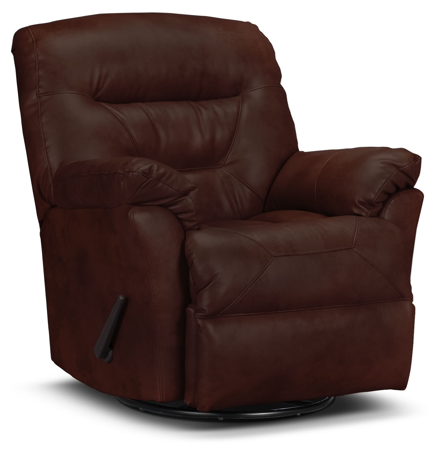 Real Leather Recliner Chairs Designed2b Recliner 4579 Genuine Leather Swivel Glider