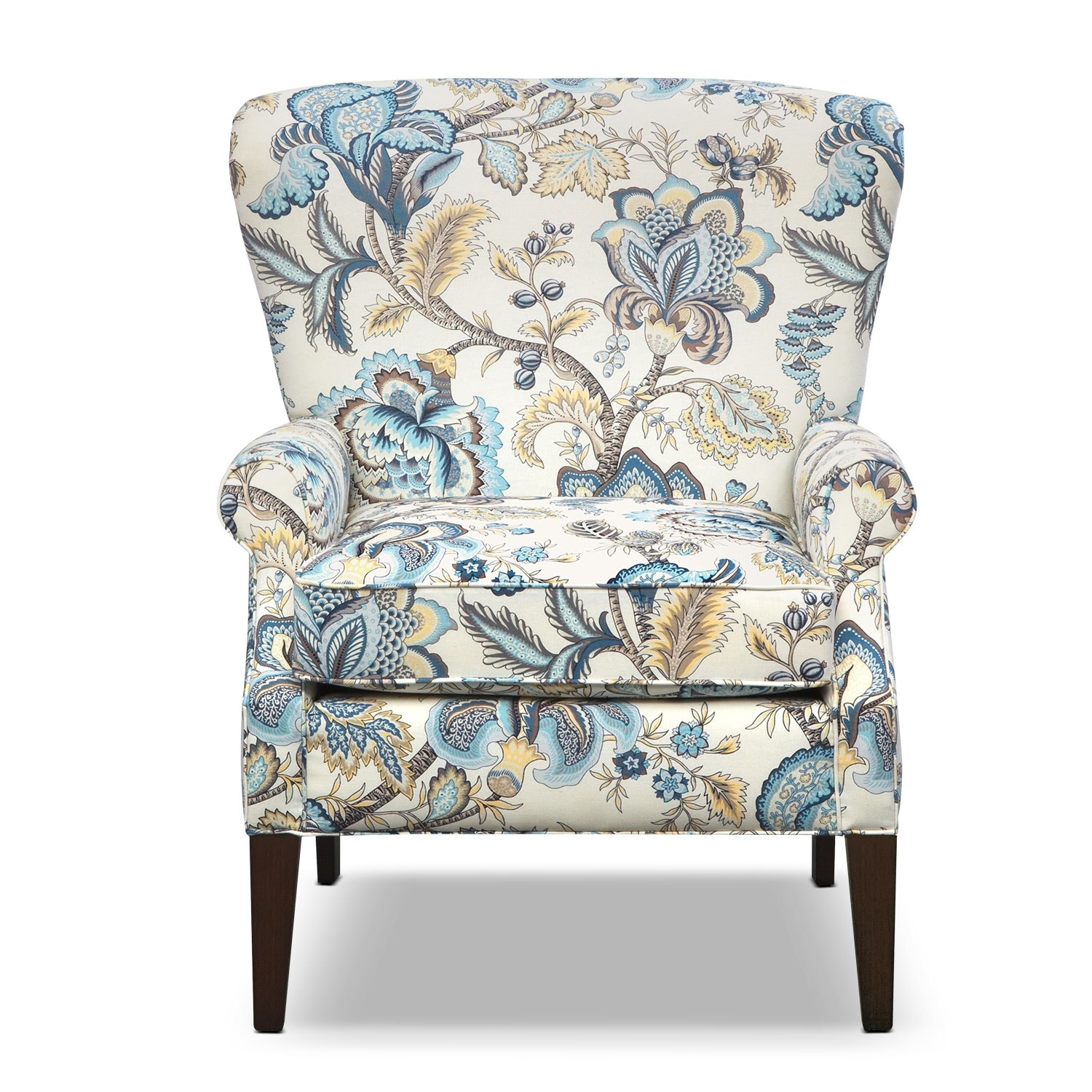 Accent Chair Blue Caroline Blue Accent Chair Furniture
