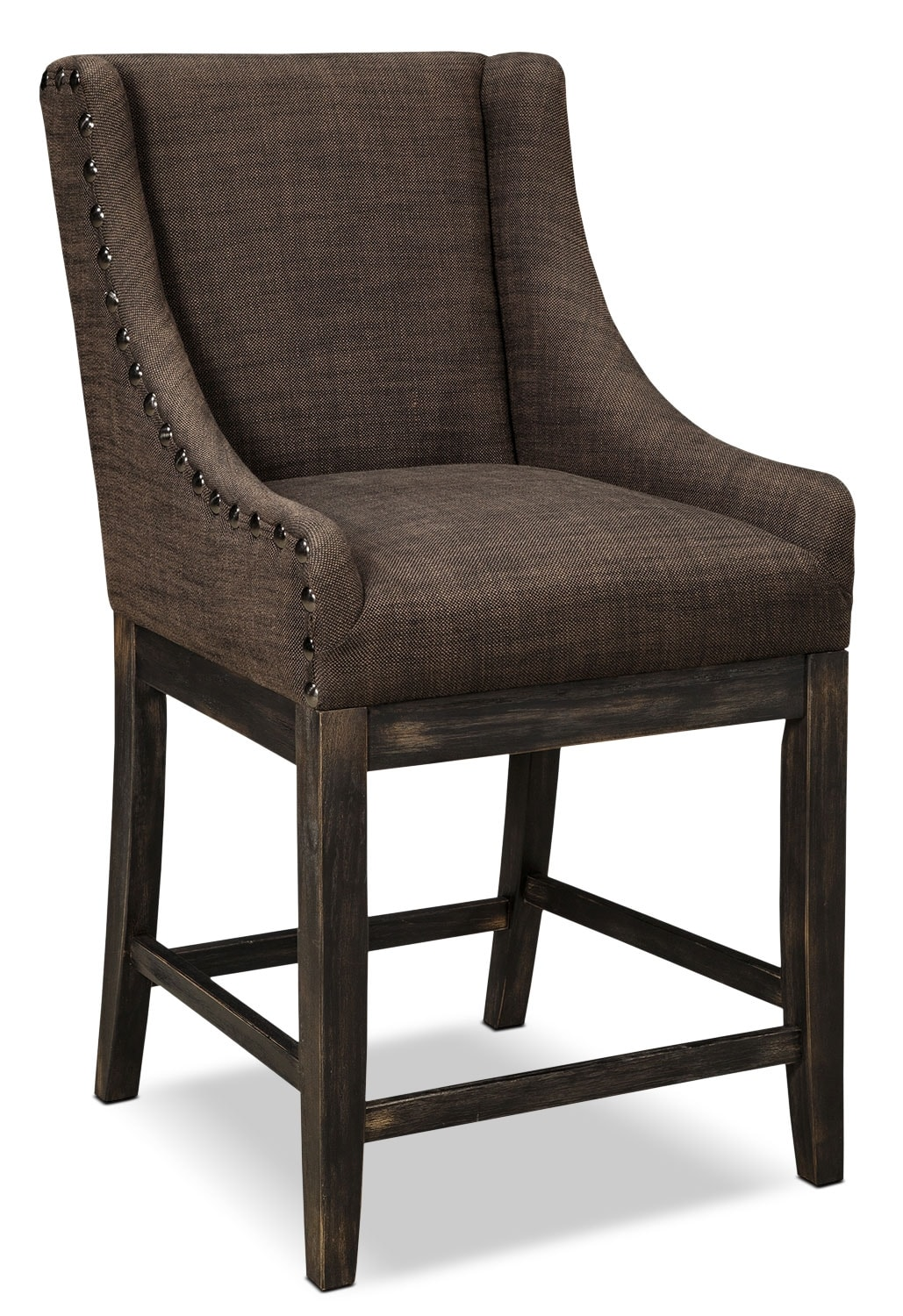 Bar Height Dining Chairs Moriann Wingback Counter Height Stool Dark Brown The Brick