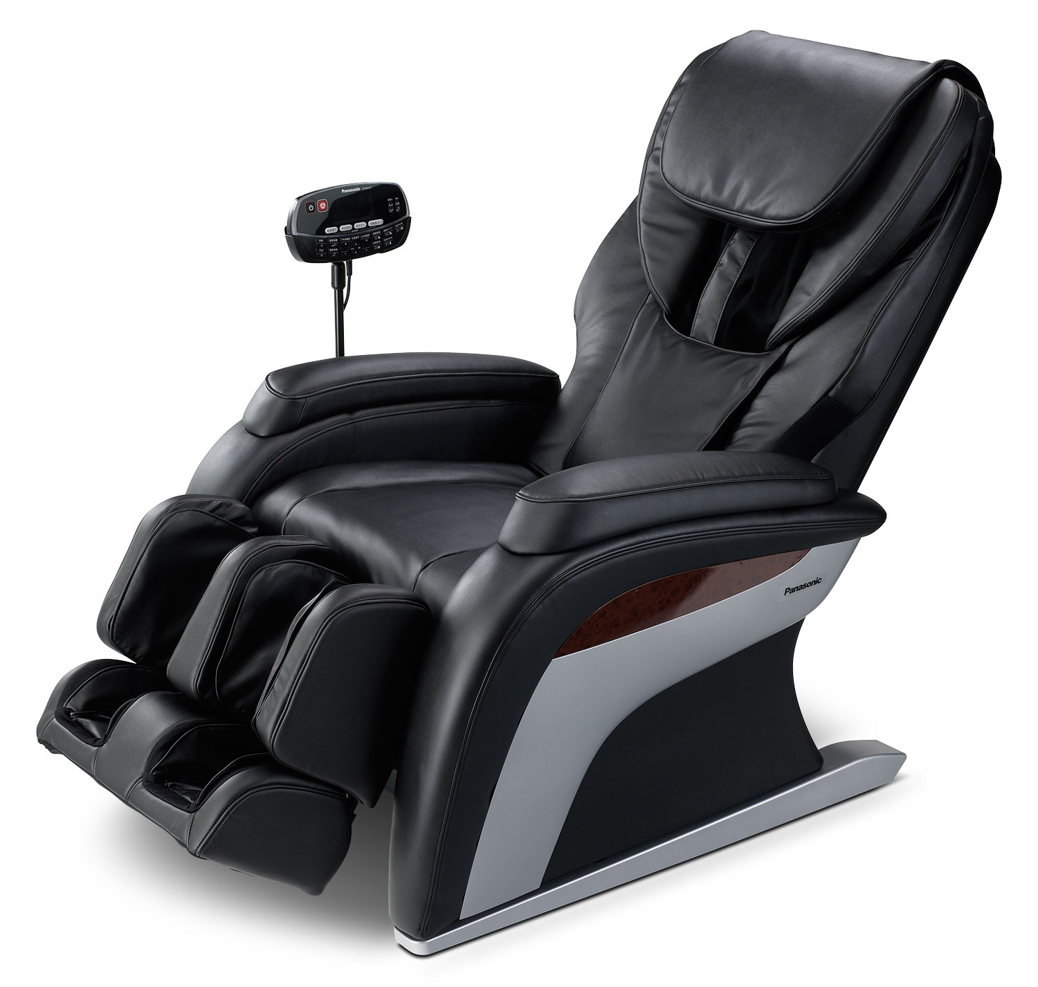 Message Chairs Panasonic Urban Collection Reclining Massage Chair Black