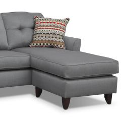 Marco Gray Chaise Sofa How To Clean Microfiber With Alcohol - | Value City Furniture