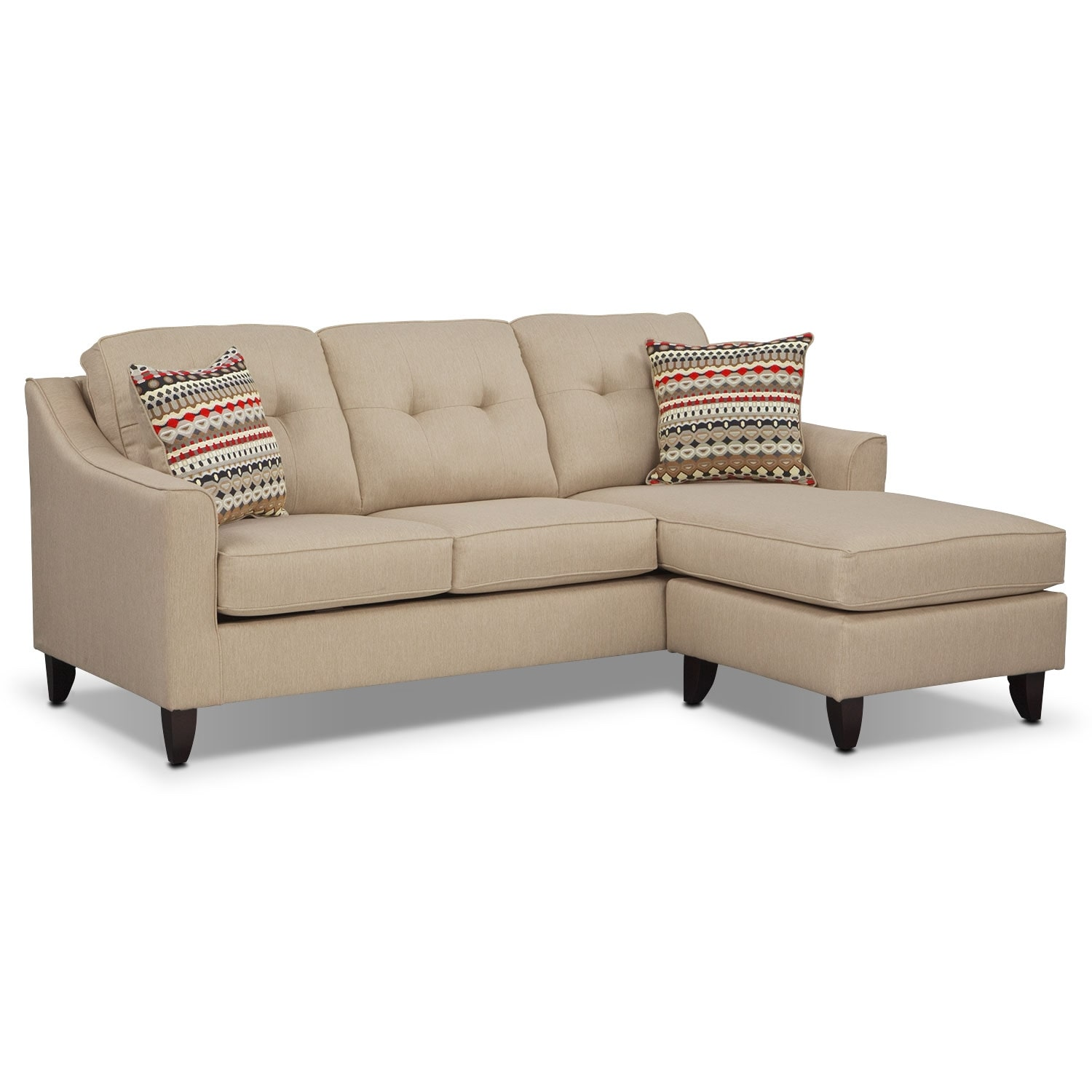 value city furniture marco chaise sofa bed minneapolis cream