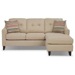 Value City Furniture Marco Chaise Sofa Garden Treasures Taupe Polyester Cover Cream