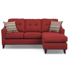 Value City Furniture Marco Chaise Sofa Modern Chairs Red