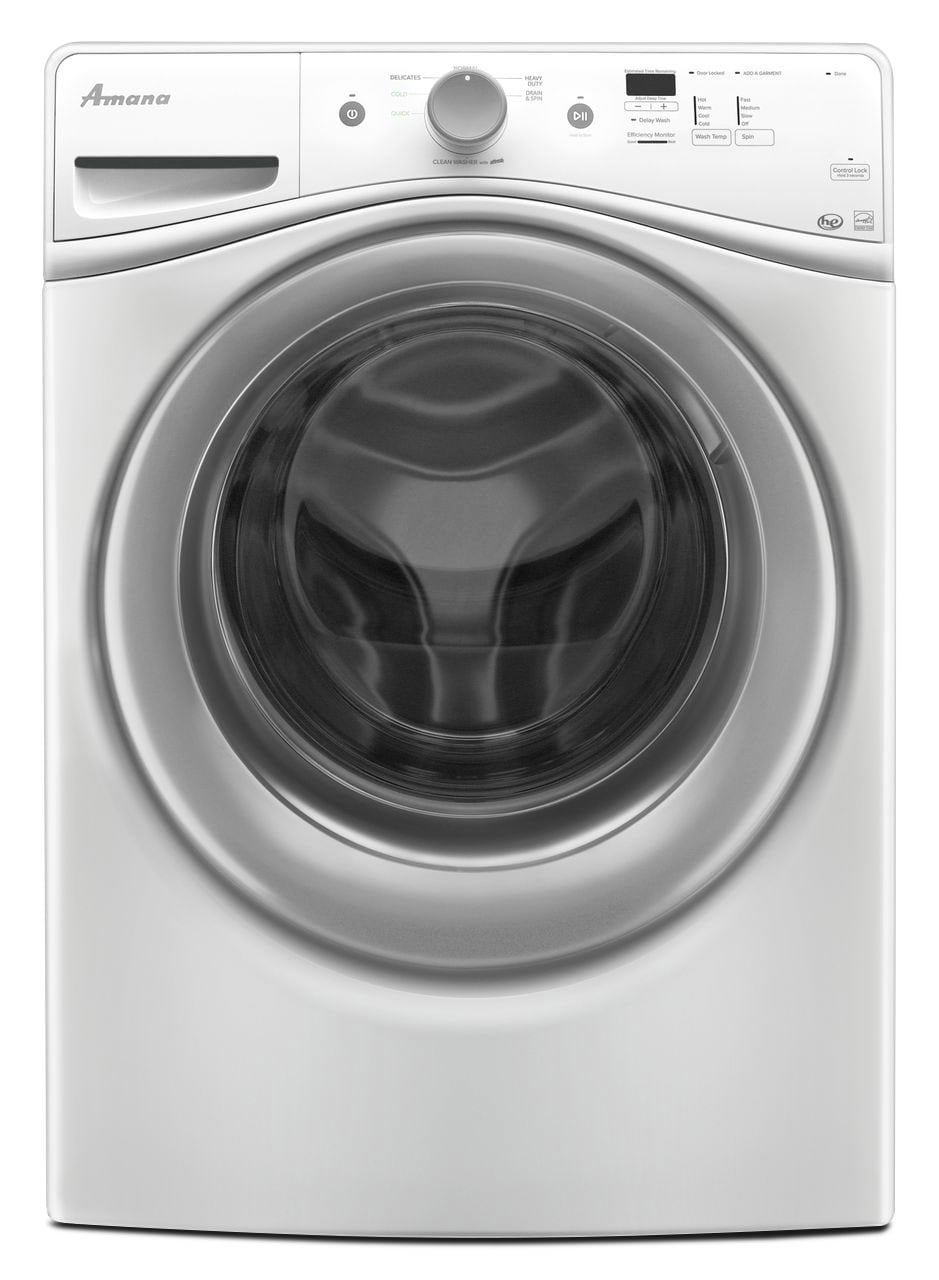 Amana 4.8 Cu. Ft. Front Load Washer And 7.4 Electric Dryer - White Brick