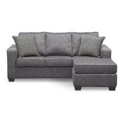 Sterling Sofa Sleeper Nyc Innerspring With Chaise Charcoal