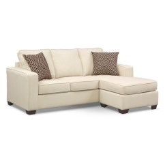 Sterling Sofa Minimalist Design Memory Foam Sleeper With Chaise Beige