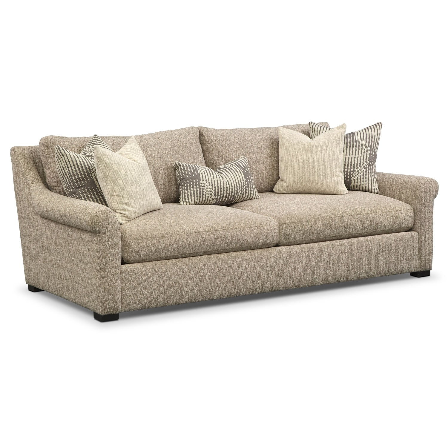loveseat and chair a half shower with back arms robertson comfort sofa set