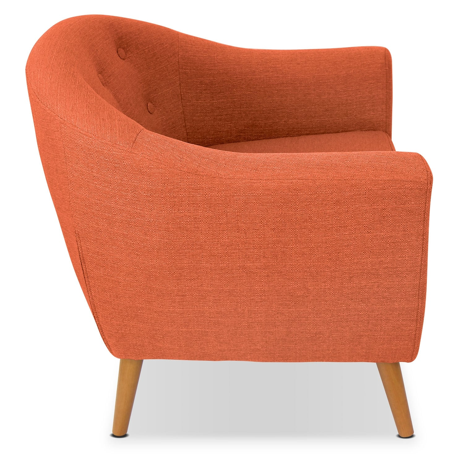 accent chair orange seat covers ebay norman value city furniture