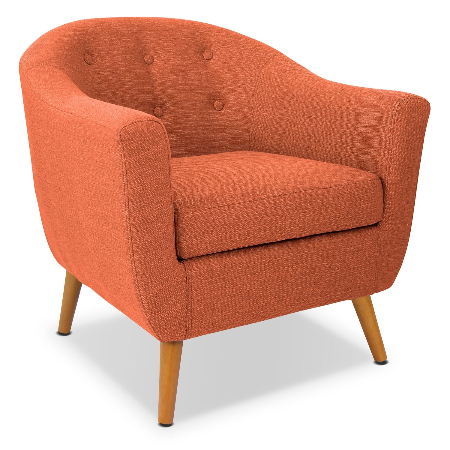 accent chair orange leather wingback uk norman value city furniture