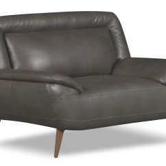 Chair And A Half Leather Recliner Ikea Upholstered Roxy Look Fabric Grey The Brick