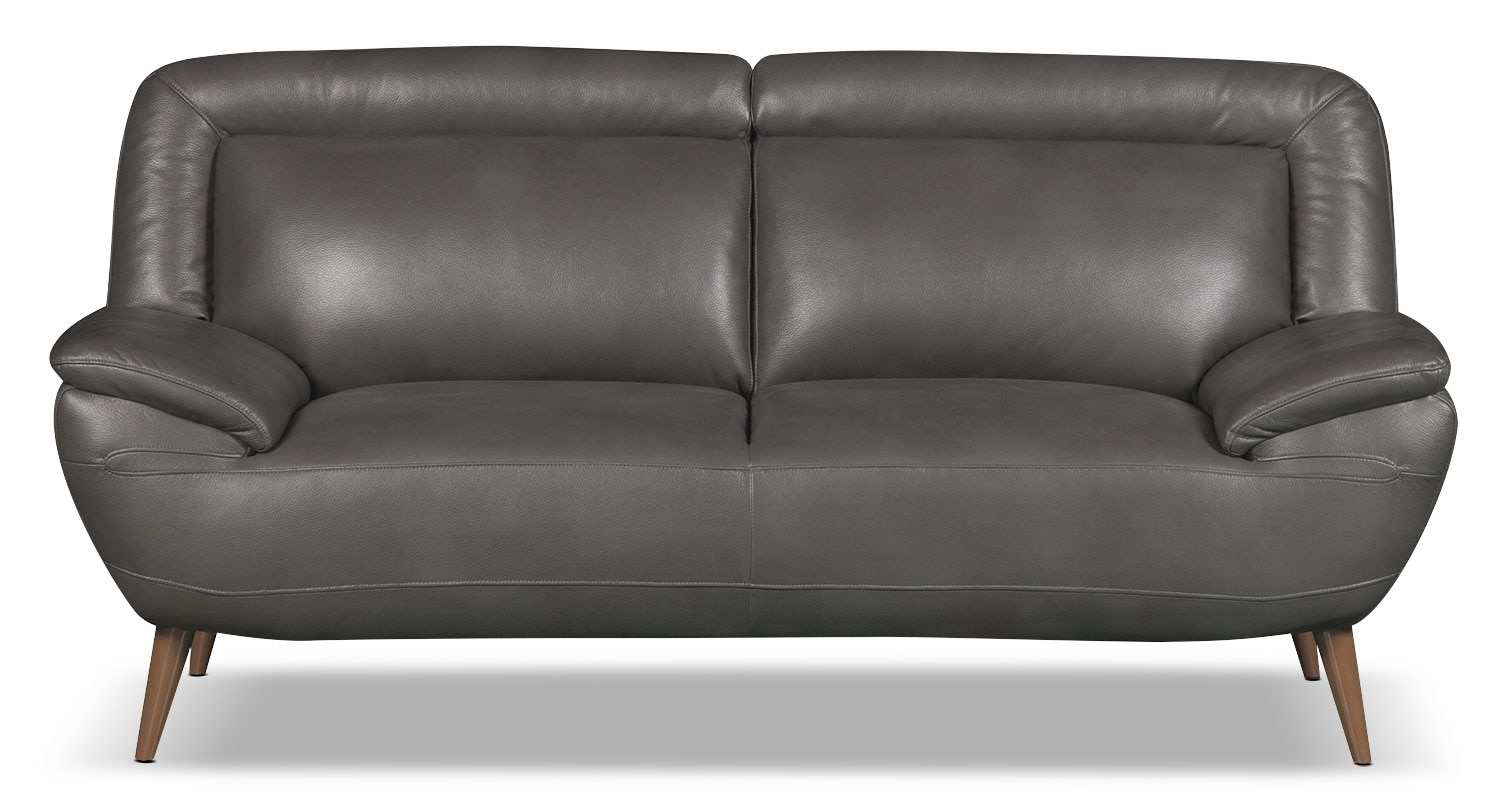 loveseat and chair a half black leather office high back roxy look fabric grey the brick