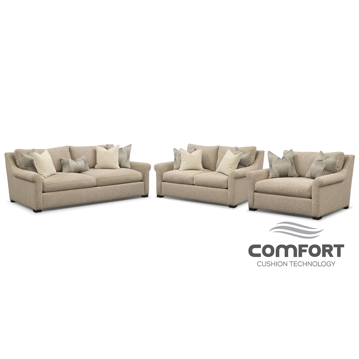 loveseat and chair a half leather wingback chairs for sale robertson comfort sofa set
