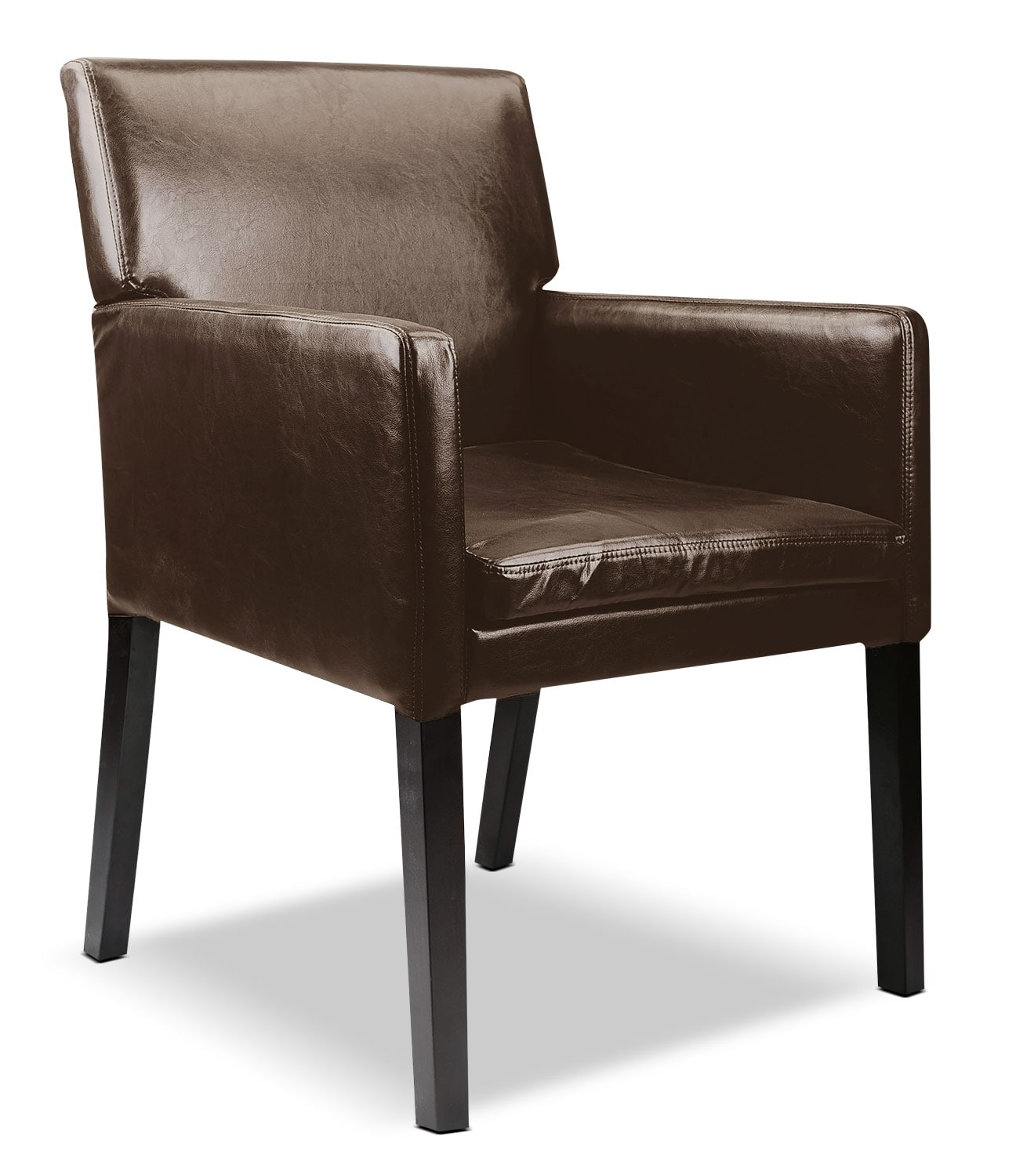 Brown Accent Chairs Lad Bonded Leather Accent Chair Dark Brown The Brick
