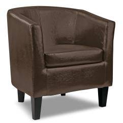 Club Chairs For Living Room Wedding Chair Cover Hire Newbury Lad Bonded Leather Accent  Dark Brown The Brick