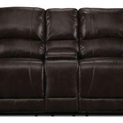 Genuine Leather Power Reclining Sofa Designer Sectional Sofas Marco Loveseat Chocolate