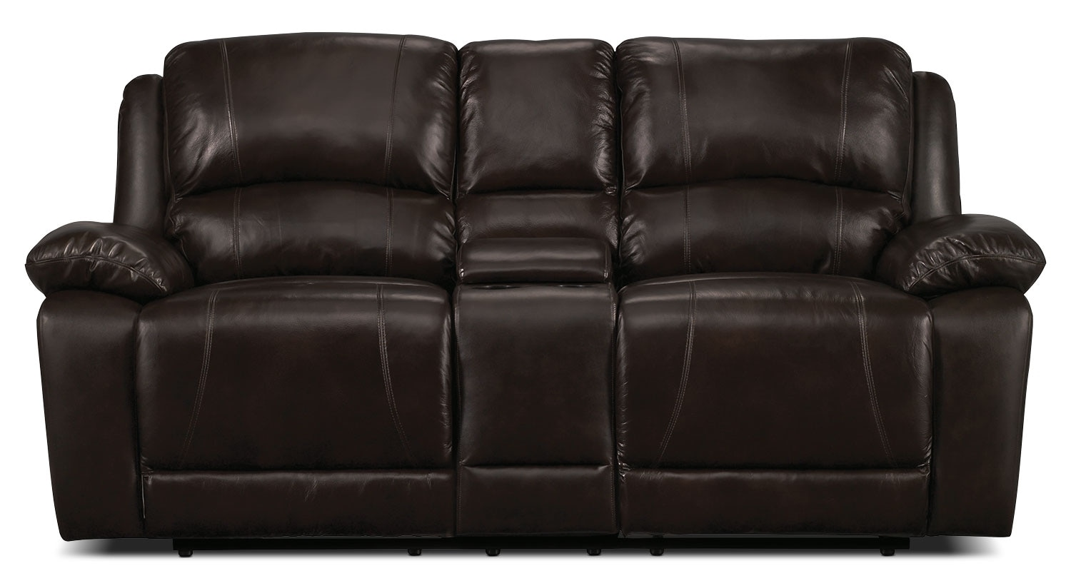 Real Leather Recliner Chairs Marco Genuine Leather Power Reclining Loveseat Chocolate