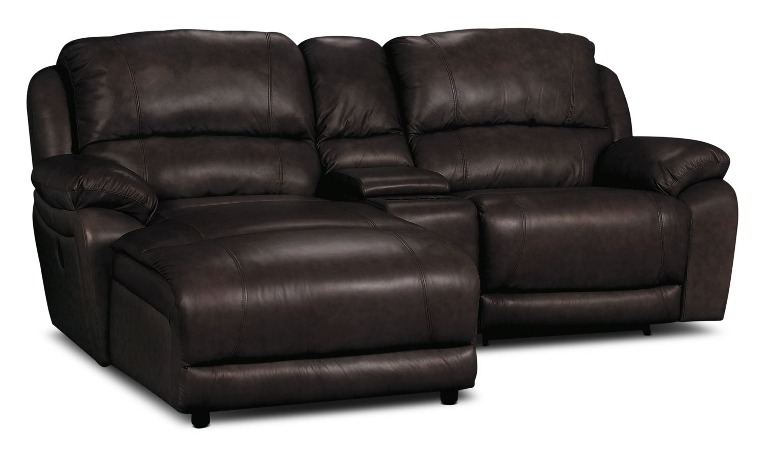 3 piece leather sectional sofa with chaise long cushions for sofas india marco genuine power