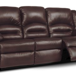 Genuine Leather Power Reclining Sofa Compact Convertible Toreno  Brown The